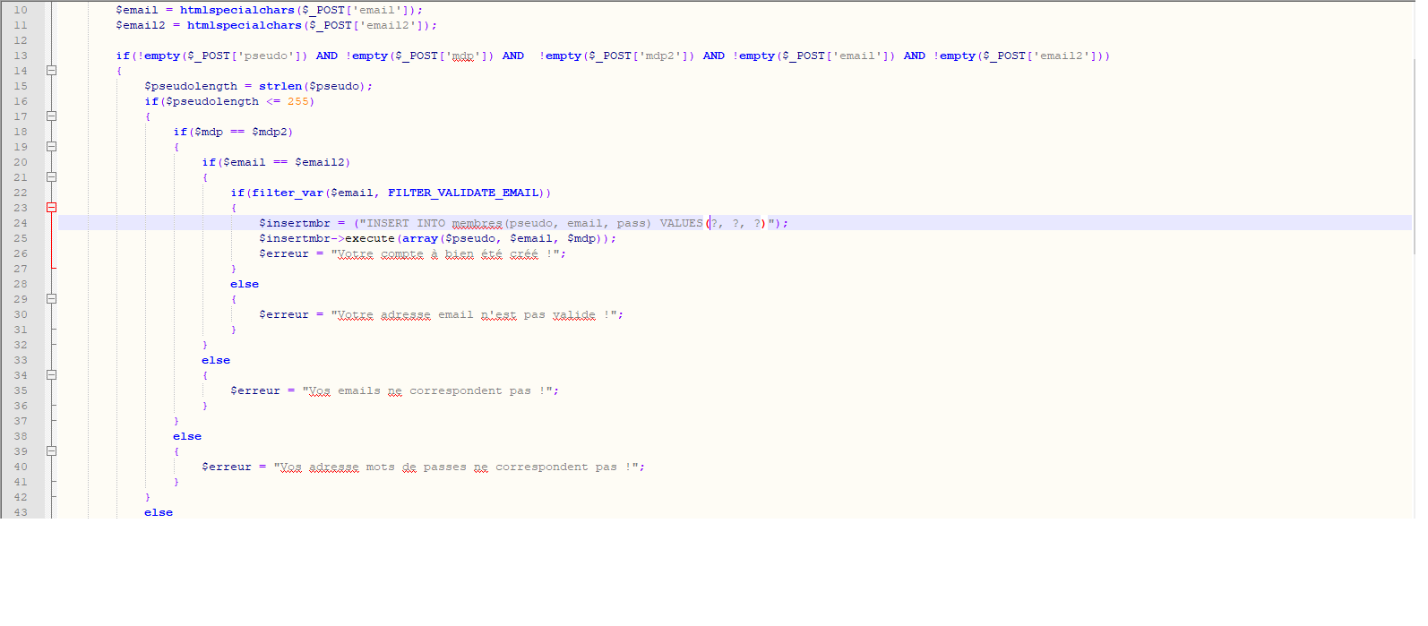 Probl me insertion sql par chrisrod page 1 openclassrooms - Code erreur s04 03 ...
