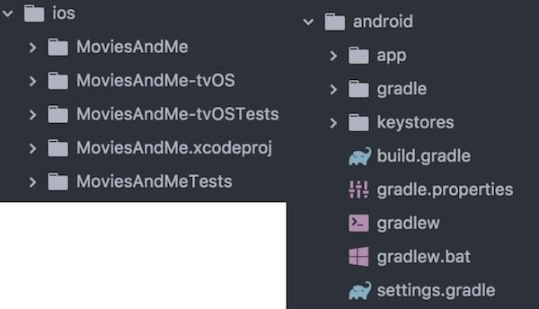 Nouveaux dossiers iOS / Android de notre application