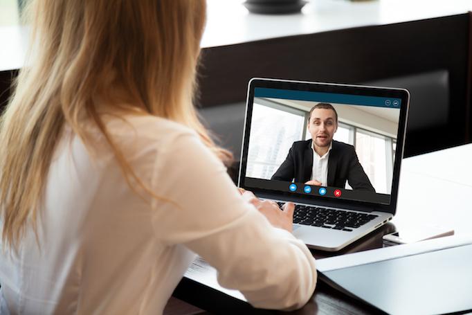 Interview via videochat
