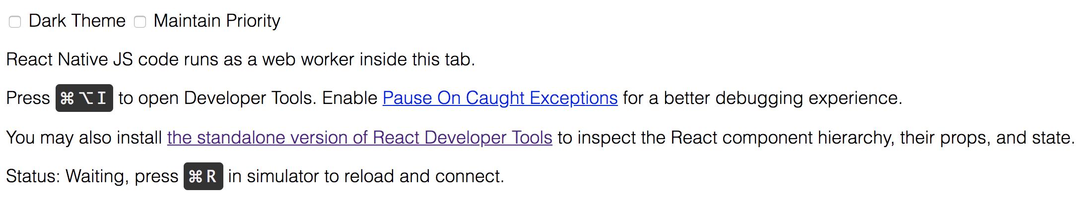 Chrome Developer Tools page d'accueil