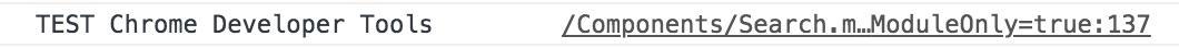 Log dans Chrome Developer Tools
