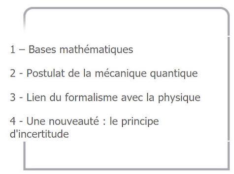 Plan d'un cours de physique en licence