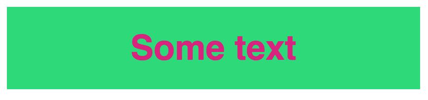 High contrast color scheme (green/pink)