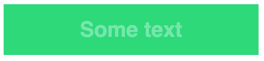 Low contrast color scheme (green/lighter green)