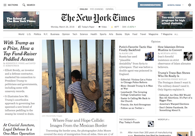 New York Times layout