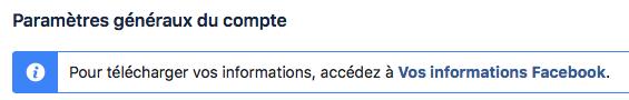 Paramètres dans Facebook