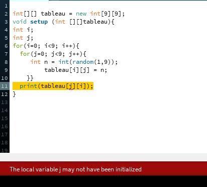 Processing Tableau Nombre Aleatoire Debut De Programme Par