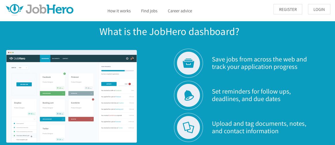Votre dashboard sur JobHero