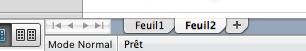 Ficher Excel contenant deux onglets