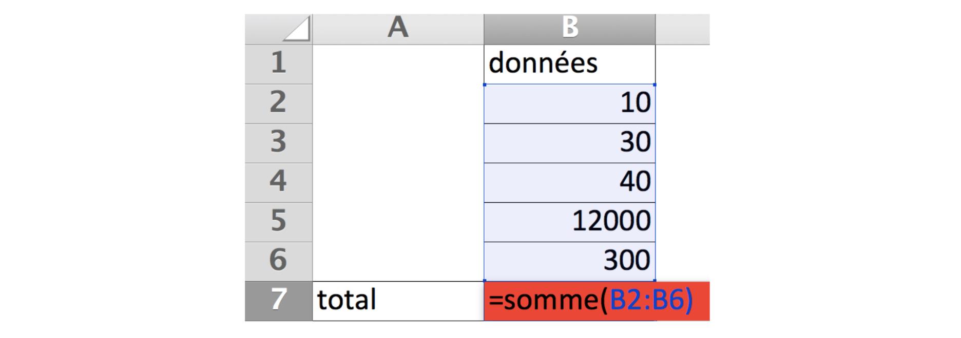 Exemple d'une fonction somme
