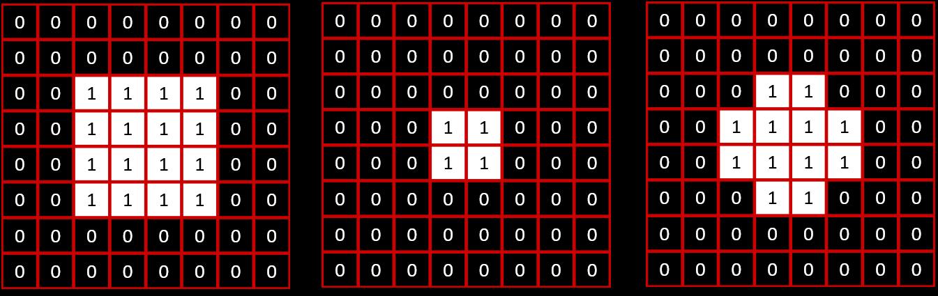 Exemple d'ouverture avec élément structurant de type croix