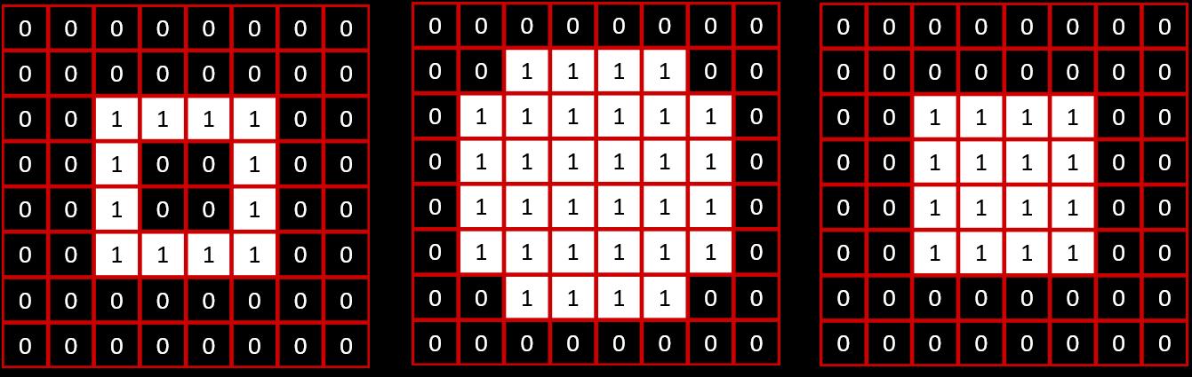 Exemple de fermeture avec élément structurant de type croix