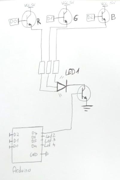 arduino  contr u00f4ler couleur led - pwm