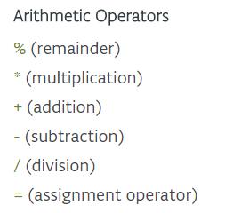 Les opérations arithmétiques Cette image provient du site Arduino, elle est couverte par une licence CC-BY-SA 3.0.