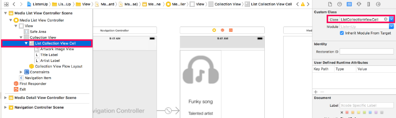 Configure cell subclass attribute in storyboard