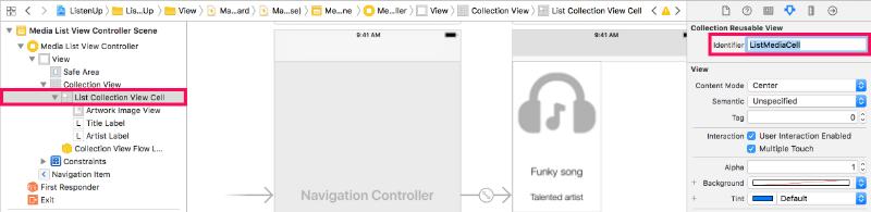 Configure cell identifier attribute in storyboard