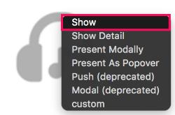 Configure display mode