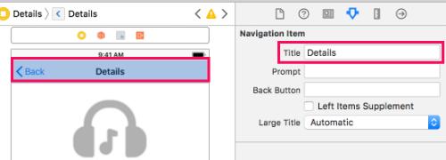 Changing navigation title