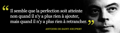 Citation de Antoine de Saint Exupéry