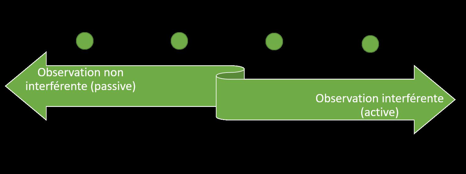 Schéma des différentes techniques d'observation d'après Lallemand et Gronier (2015)