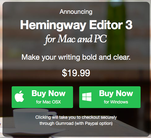 Screenshot for desktop version of Hemingway App.