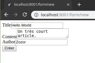 Capture d'écran qui correspond au rendu du fichier Twig précédemment présenté.