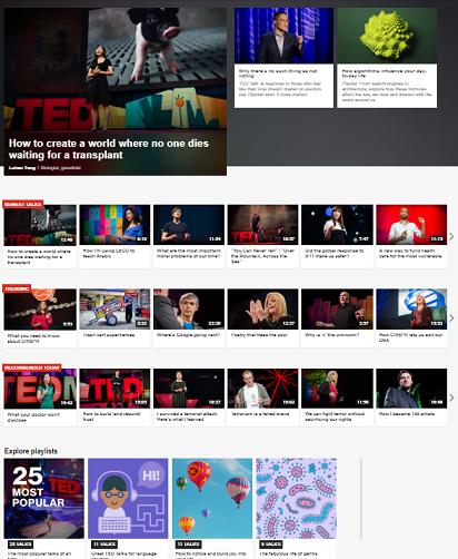 Illustration du principe de proximité, page d'accueil de TED