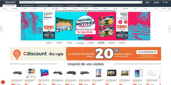 Page d'accueil de C Discount