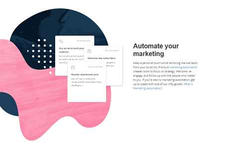 Page d'accueil de Mailchimp