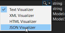 Différents visualiseurs de chaines de caractères