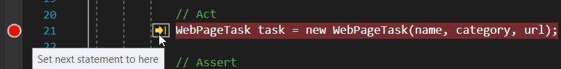 Revenir avant la création de la WebPageTask