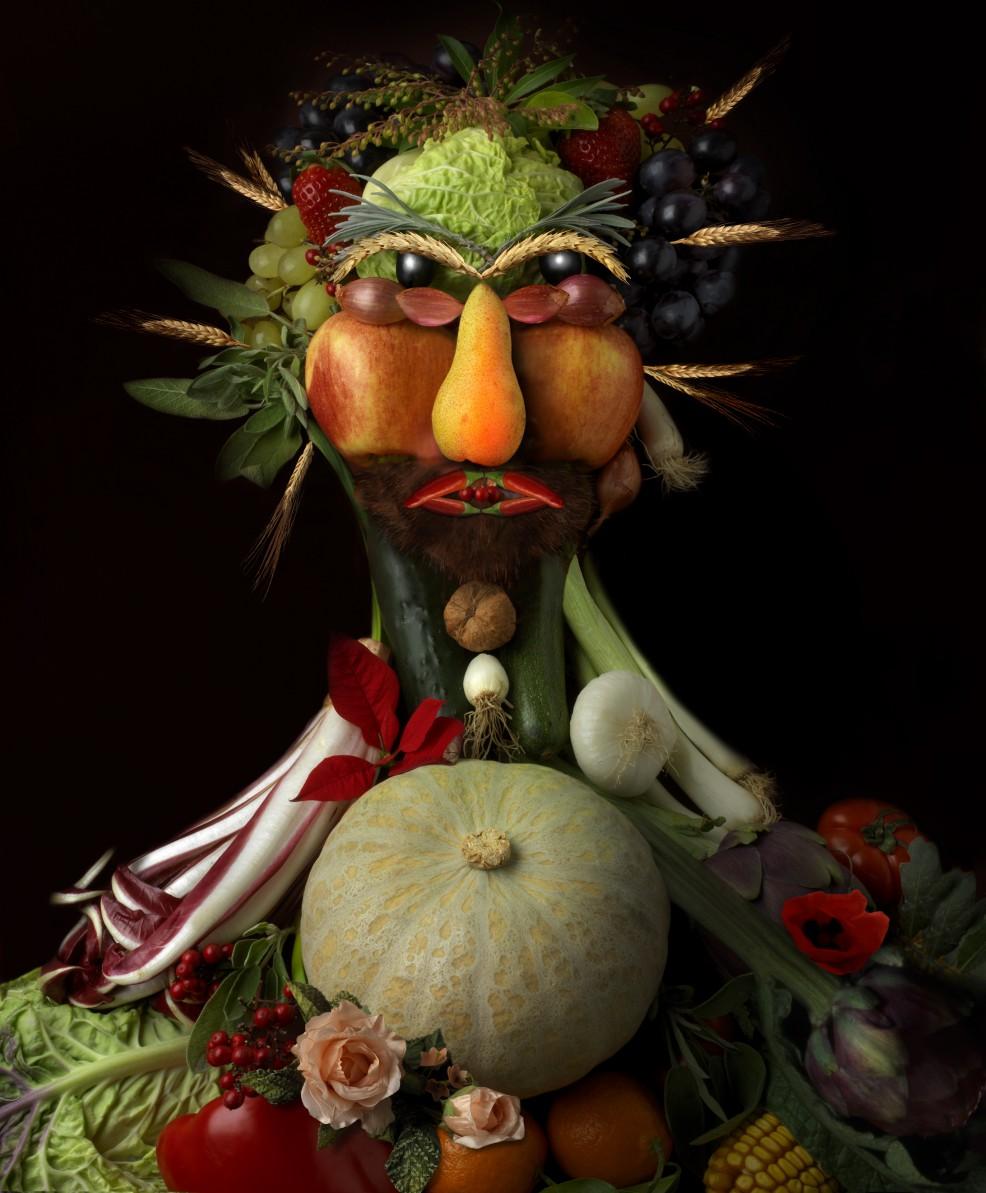 Des fruits et legumes ou un homme?