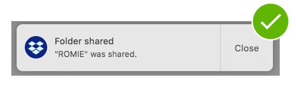 Notification Dropbox