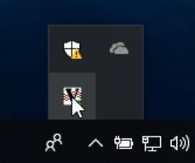 Icône VNC dans la barre des tâches Windows