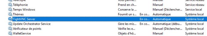 Capture des services de Windows règle