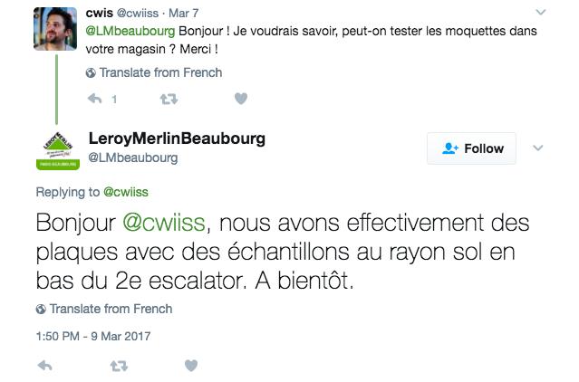 Leroy Merlin et ses comptes Twitter