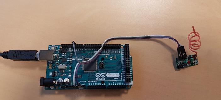 Les connexions électriques entre le module MX-05 et une carte  Arduino Mega