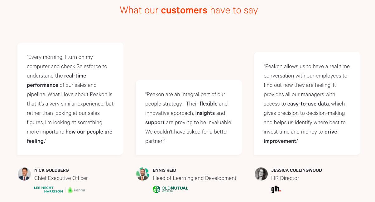 Impression d'écran des avis clients laissés sur un site internet