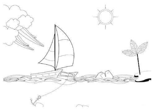 Template du speed boat proposé par coach agile