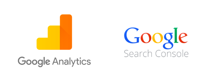 Logos de Google analytics et Google Console