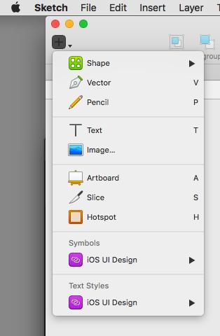 Capture de l'interface Sketch