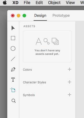 Capture de l'interface Adobe Xd