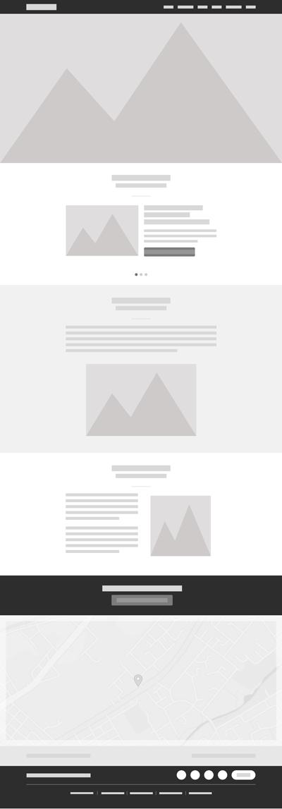 Exemple de wireframe réalisé dans un logiciel