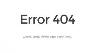 La fameuse erreur HTTP 404