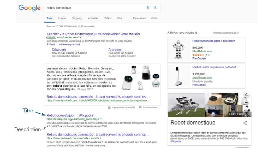 Title & Description dans Google