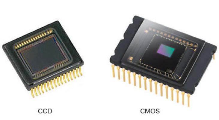 Photo de capteurs photoélectroniques (taille réelle : quelques centimètres)