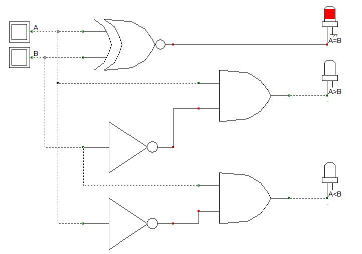 Schéma de principe du comparateur élémentaire