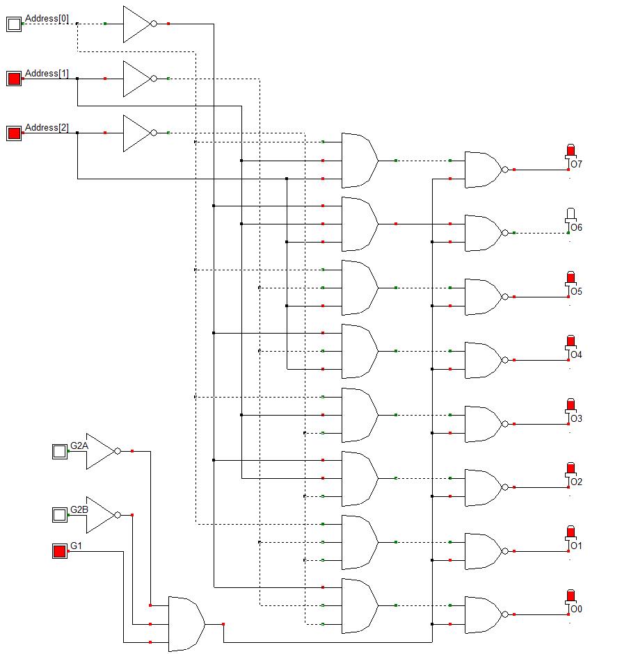 Démuliplexeur 8 vers 1 sur le principe du composant 74ls138
