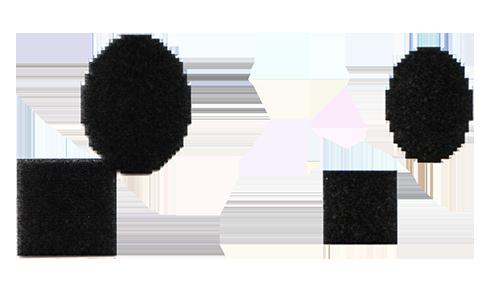 Le collage initial / Le résultat après érosion