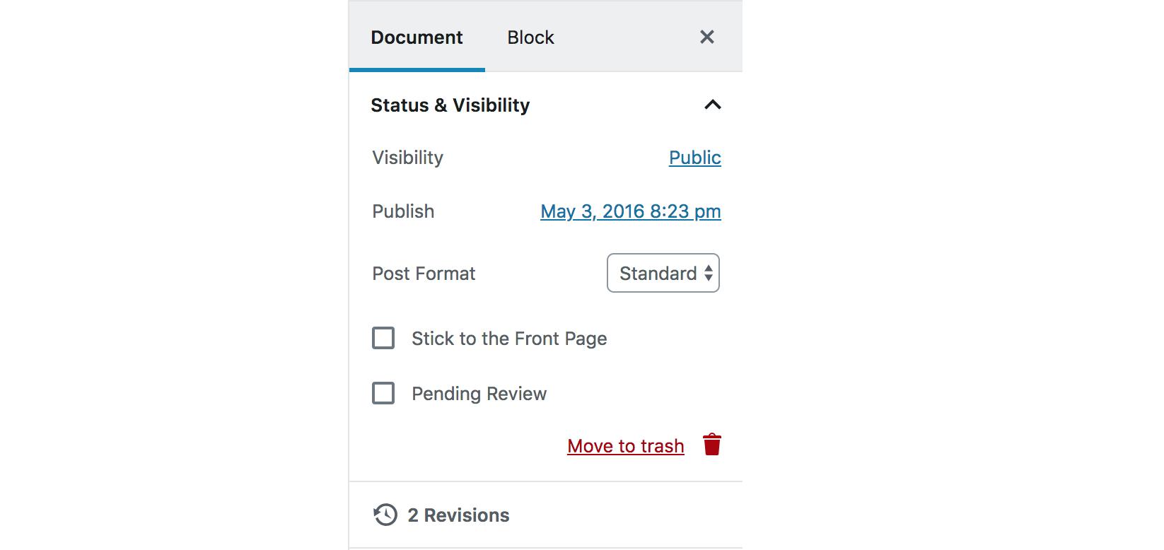 La publication de contenus dans WordPress